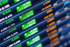 Amplificazione del mercato azionario fotografia stock libera da diritti
