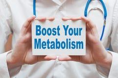 Amplifichi il vostro metabolismo Fotografie Stock Libere da Diritti