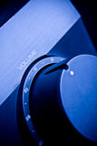 Amplifier. Home Theater System / Amplifier with blue light royalty free stock image