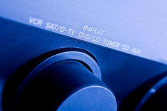 Amplifier. Home Theater System / Amplifier with blue light royalty free stock images