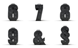 Amplifier alphabet 6 7 8 9 ampersand section Royalty Free Stock Image