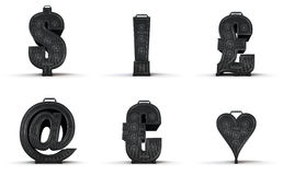 Amplifier alphabet dollar exclamation pound email Stock Photos