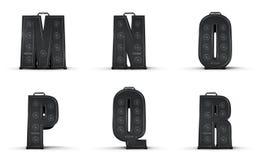 Amplifier alphabet M N O P Q R Royalty Free Stock Image