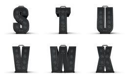 Amplifier alphabet S T U V W X Stock Photography