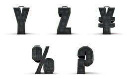 Amplifier alphabet Y Z yen percent question Royalty Free Stock Image