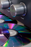 Amplifier and Compact Discs Royalty Free Stock Photo