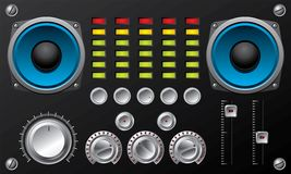 Amplifier with controls and equalizer Stock Photos