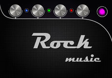 Amplifier Design. Guitar amplifier design with interface in modern style Stock Photo