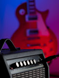 Amplifier  and electric guitar Stock Photography