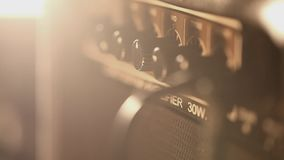 Amplifier with electric guitar stock footage