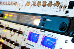 Amplifier equipment Stock Image
