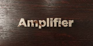 Amplifier - grungy wooden headline on Maple  - 3D rendered royalty free stock image. This image can be used for an online website banner ad or a print postcard Royalty Free Stock Image