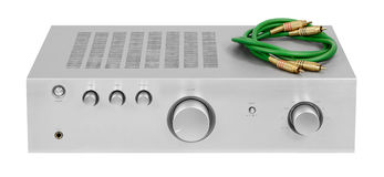 Amplifier. High fidelity audio amp amplifier Royalty Free Stock Image