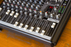 Amplifier keyboard console Stock Photography