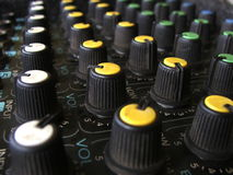 Amplifier knobs stock images