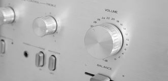 Amplifier knobs and buttons Royalty Free Stock Photo
