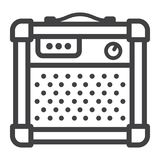 Amplifier line icon, music and instrument Stock Photo