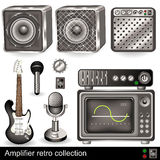 Amplifier retro collection Stock Photography