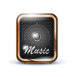 Amplifier speaker icon Royalty Free Stock Photography