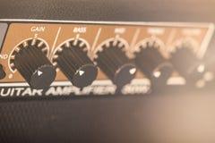 Amplifikator gitara elektryczna Obrazy Royalty Free