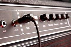 amplifikatoru czarny gitary dźwigarki muzykalny panel obraz royalty free