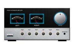 amplifikatoru stereo Zdjęcia Stock