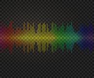 Amplitud del vector, ejemplo de neón del resplandor, elemento brillante del diseño ilustración del vector