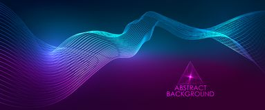 Amplitude Abstract Background. With a colored dynamic waves. Abstract soundtrack wave energy background or digital music beat tracking technology color stock illustration