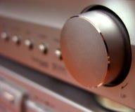Amplituner volume button. Detail of an amplifier volume button Stock Images