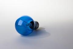Ampola azul fotografia de stock royalty free