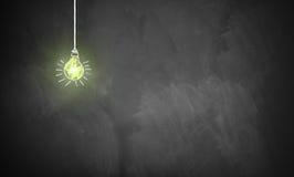 Ampola de brilho em um quadro Imagem de Stock