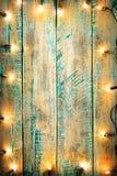 Ampola de Natal na tabela de madeira Fotos de Stock Royalty Free