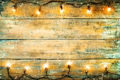 Ampola de Natal na tabela de madeira Imagem de Stock Royalty Free