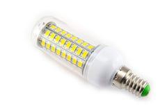 Ampola do diodo emissor de luz no fundo branco Foto de Stock