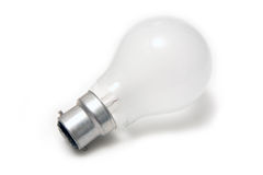 Ampola do tungstênio isolada no branco. Foto de Stock Royalty Free