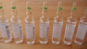 Ampola farmacêuticas na tabela video estoque