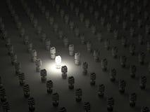 Ampola fluorescente compacta fotografia de stock