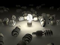 Ampola fluorescente compacta ilustração do vetor