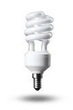 Ampola fluorescente da economia de energia isolada Fotografia de Stock