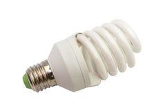 Ampola fluorescente da economia de energia isolada Imagens de Stock Royalty Free