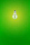 Ampola no fundo verde imagem de stock royalty free