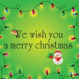 Ampolas da cor do Natal Foto de Stock