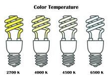 Ampolas da economia de energia Vetor Fotografia de Stock Royalty Free