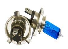 Ampolas do halogênio azul para carros Imagens de Stock Royalty Free