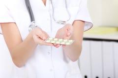 Ampolla de la píldora. Fotos de archivo libres de regalías