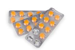 Ampolla de la tableta revestida del medicamento Imagenes de archivo