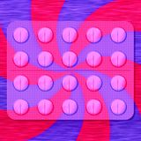 Ampolla de las medicinas con remolino rojo-púrpura Imagen de archivo