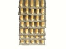 Ampollas apiladas de la medicina Foto de archivo libre de regalías