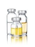 Ampollas médicas con la reflexión Imágenes de archivo libres de regalías