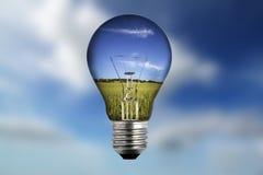 ampoule à l'intérieur de lumière d'horizontal Photographie stock libre de droits